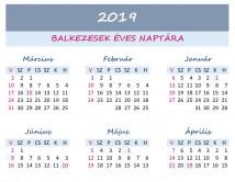 Balkezesek éves fordított naptára 2019