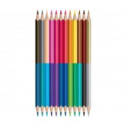 Maped COLOR PEPS Duo kétvégű, háromszögletű színes ceruza 12db, 24 színnel 5000Ft alatt Tollak és ceruzák Maped