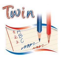 Kores TWIN háromszögletű postairon, piros-kék, szóló