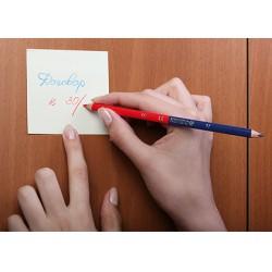 Kores TWIN Jumbo háromszögletű postairon, piros-kék, szóló