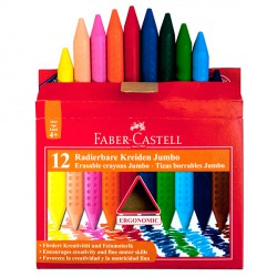 Faber-Castell JUMBO GRIP zsírkréta, 12db, háromszögletű Írás Tollak és ceruzák Faber