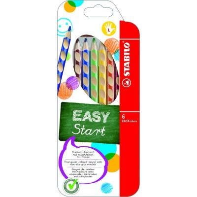 Stabilo EASYcolors színes ceruza 6db, balkezes