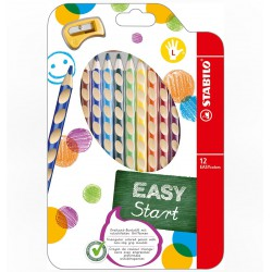 Stabilo EASYcolors színes ceruza 12db, balkezes, hegyezővel 5000Ft felett Tollak és ceruzák Stabilo