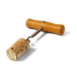 T alakú, fa nyelű dugóhúzó, balkezes Dugóhúzók