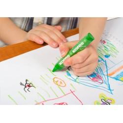 Kores Jumbo zsírkréta, 12db, háromszögletű Írás Tollak és ceruzák Kores