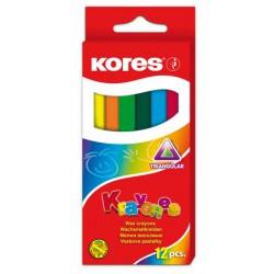 Kores normál zsírkréta, 12db, háromszögletű Írás Tollak és ceruzák Kores