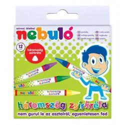 Nebuló zsírkréta, 12db, háromszögletű Írás Tollak és ceruzák Nebuló