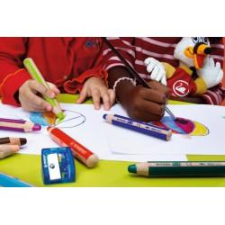 Stabilo Woody 3 in 1, kerek, vastag színes ceruza, 1db Balkezes ceruzák Tollak és ceruzák Stabilo