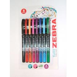 Zebra Sarasa színes tűfilc 0.8mm, 8db 5000Ft alatt Tollak és ceruzák Zebra Sarasa