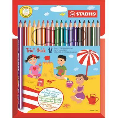 Stabilo TRIO Thick háromszögletű színes ceruza 18db