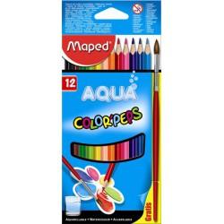 Maped COLOR PEPS háromszögletű akvarell színes ceruza 12db, ecsettel 5000Ft alatt Tollak és ceruzák Maped