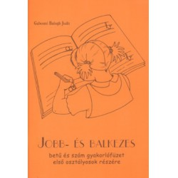 Jobb- és balkezes betű és szám gyakorlófüzet első osztályosok részére Útmutatók Könyv Gabosné Balogh Judit
