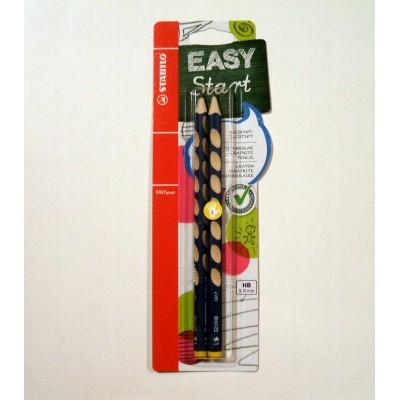 Stabilo EASYgraph grafit ceruza 2db, balkezes, csomagolt