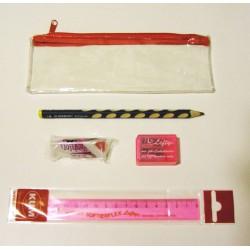 Iskolaszer készlet 4db-os, balkezes + ajándék tolltartó 5000Ft alatt Vonalzók Kum/Stabilo/Maped