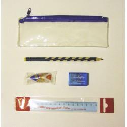 Iskolaszer készlet 4db-os, balkezes + ajándék tolltartó